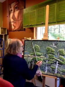 © Mélissa Bradette Artiste multidisciplinaire, Christian Côté profite des nombreux temps libres que lui offre la retraite pour s'adonner à son art.