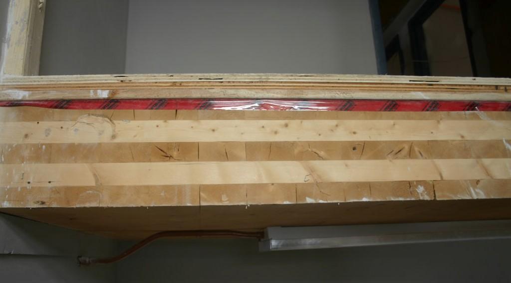 Ces planchers en bois lamellé-collé ont une résistance au feu de deux heures.