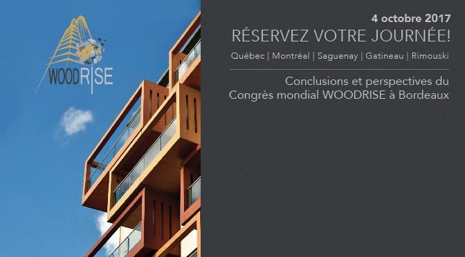 Colloque WOODRISE Québec – Bâtiments moyenne et grande hauteur