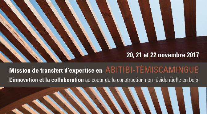 Mission de transfert d'expertise en Abitibi-Témiscamingue