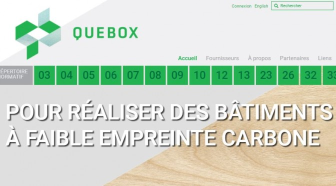 QUEBOX, le répertoire normatif en conception et construction de bâtiments durables
