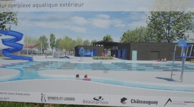 Le bois choisi pour la structure du complexe aquatique à Beauharnois