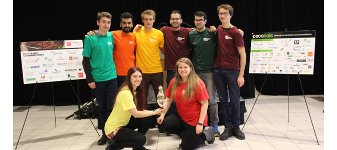 Les étudiants de l'UQAC se distinguent encore une fois au défi Cecobois