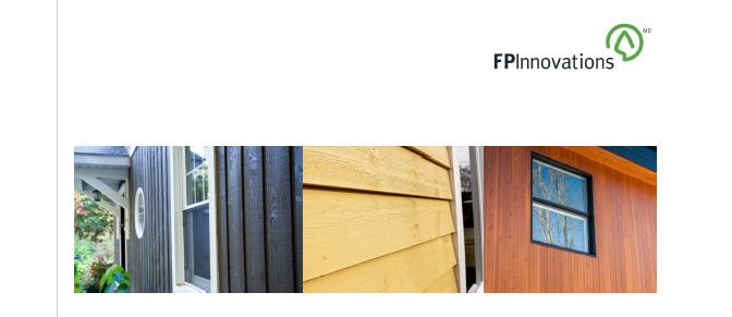 Nouveau guide de FPInnovations sur les revêtements extérieurs en bois massif