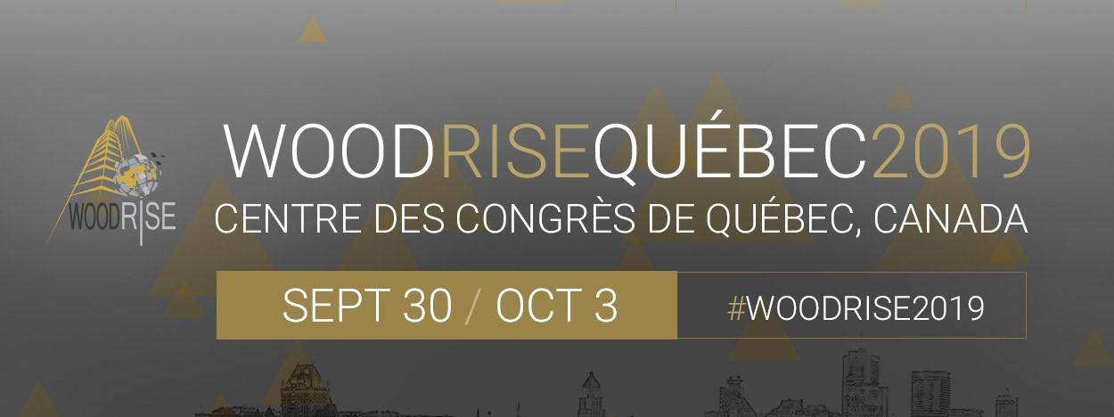 WoodRise Québec | 30 septembre au 3 octobre 2019