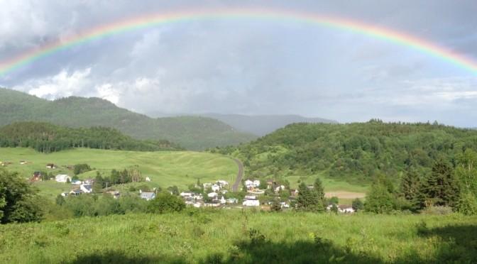 Village de Ste-Rose du Nord   auteur: Robert Barrette, UQAC