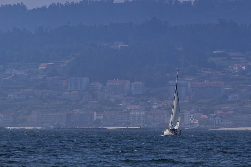 Sailboat across the sea