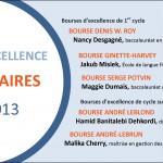 Récipiendaires 2012-2013