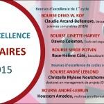 Récipiendaires 2014-2015